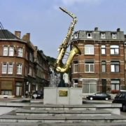 Monument to Saxophone in Dinan, Belgium