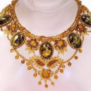 Amazing amber necklace