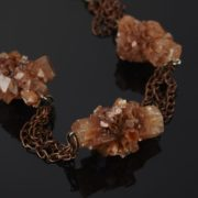 Amazing necklace with aragonite