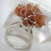 Amazing ring with aragonite