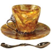 Amber tea cup and saucer