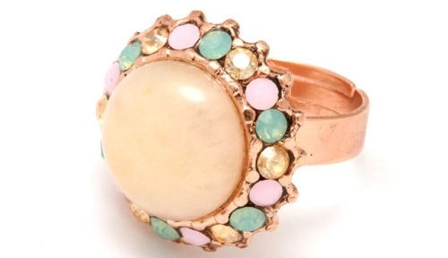 Beautiful ring with aragonite