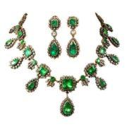 Emerald and Diamond Demi-Parur