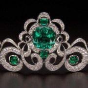 Houston Emerald and Diamond Tiara