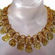 Interesting amber necklace