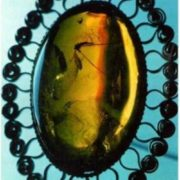 Jewelery made from amber, Vilnius, Lithuania