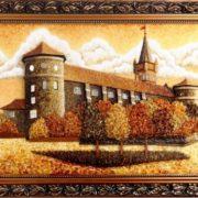 Landscape made of amber
