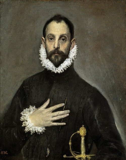 Portrait of a gentleman with a hand on his chest (circa 1577-1579)