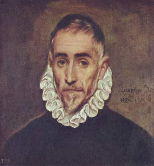Portrait of an elderly man. Presumably the self-portrait of El Greco, 1600