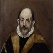 Portrait of an old man. Presumably self-portrait of El Greco