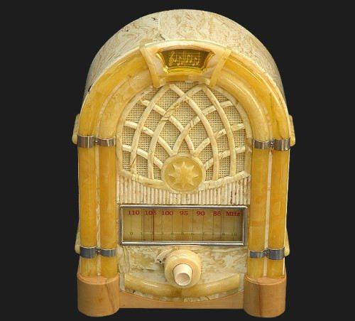 Radio made of amber