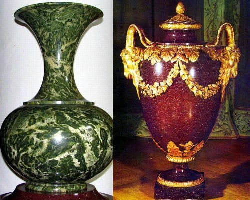 Vases made of jasper