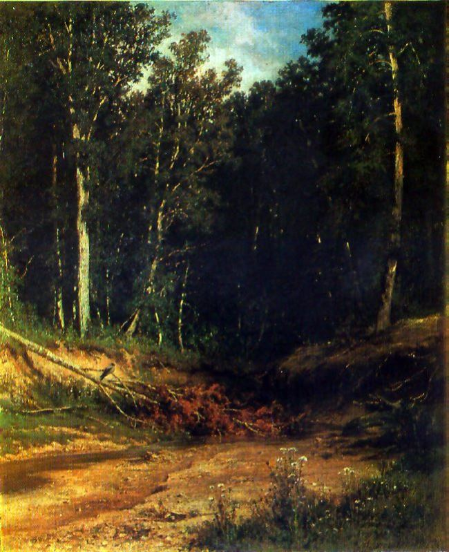 A stream in the forest (On the hillside). 1880