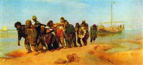 Barge Haulers on the Volga. 1870-1873