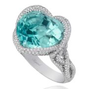 Chopard Paraiba Tourmaline Ring from the Red Carpet Collection 2013.