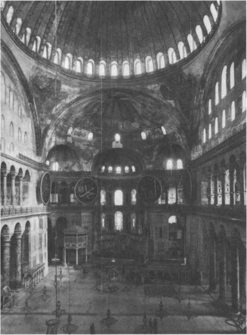 Church of Hagia Sophia in Constantinople. Interior