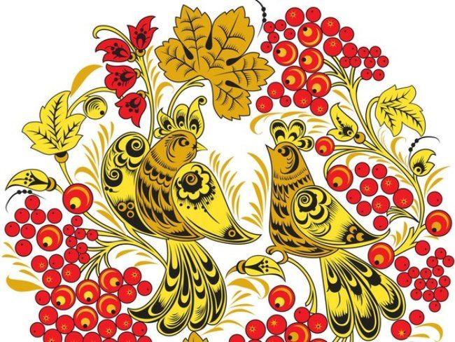 Colorful Khokhloma