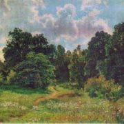 Edge of deciduous forest. Etude. 1895