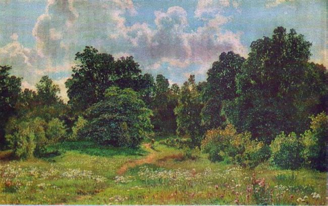Edge of deciduous forest. Etude. 1895