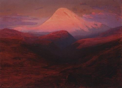 Elbrus in the evening. 1898-1908
