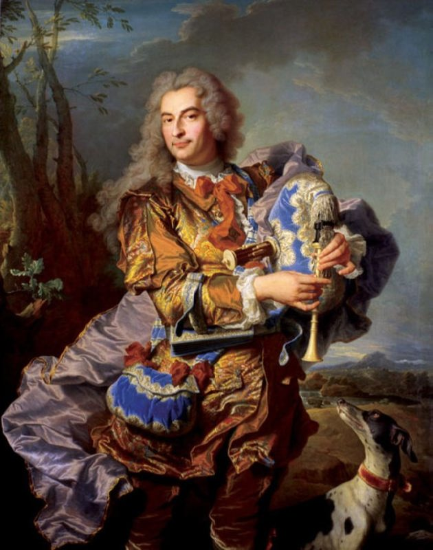 Gaspard de Gueidan playing the musette, painting by Hyacinthe Rigaud, 1738