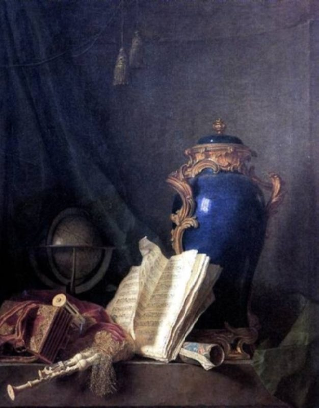 Henri-Horace Roland Delaporte. Still life with bagpipe, 1763