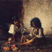 Italian children. 1887