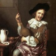 Johannes Tielius. Bagpipe Player making Faces, 1687. Kunsthistorisches Museum, Vienna