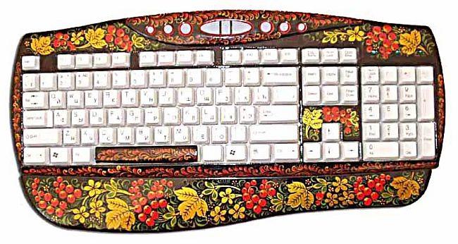 Keyboard Khokhloma style