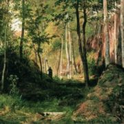 Landscape with a hunter. Valaam Island, 1867
