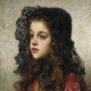 Little Girl with Veil