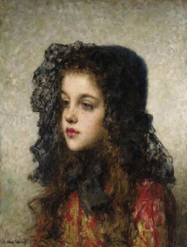 Little Girl with Veil