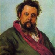 M. P. Mussorgsky. 1881