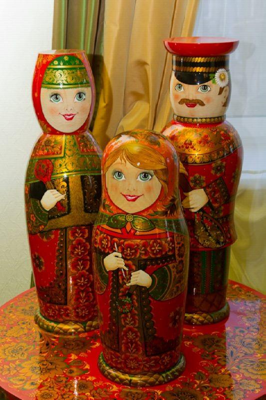 Matryoshka Khokhloma style