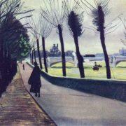 Paris. Seine embankment, 1935