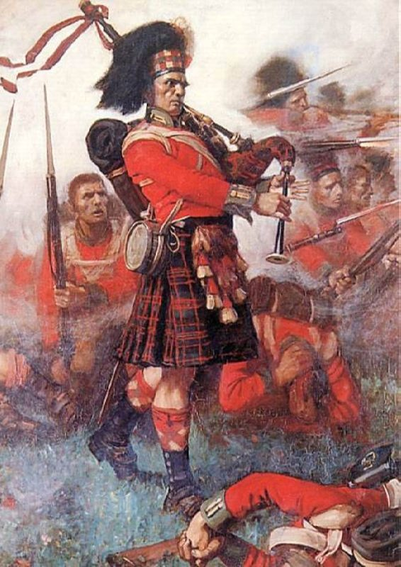 Piper Kenneth McKay of the 79th (Cameron) Battalion at the Battle of Waterloo