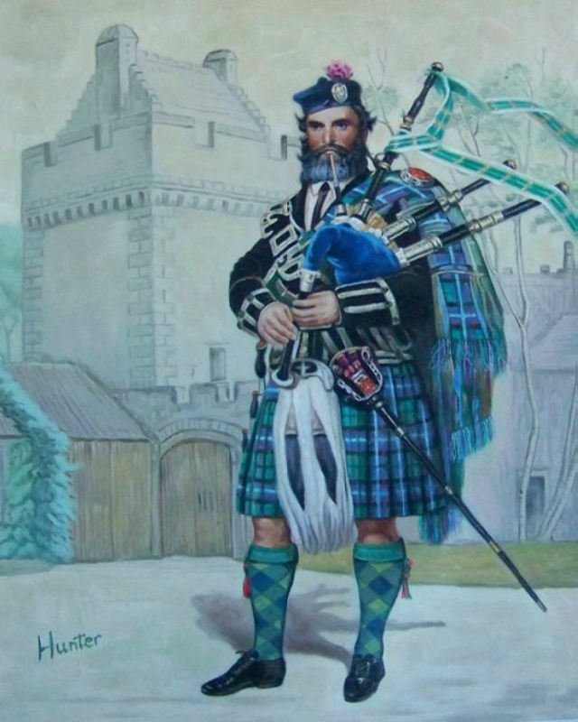 Portrait Painting of Clansman and their Clan Castle