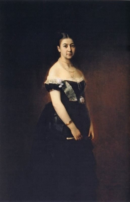 Portrait of E.A. Tretyakova. 1875