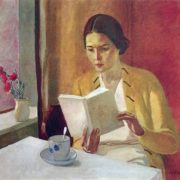 Portrait of a girl with a book, 1934