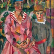 Portrait of wife and daughter. 1915