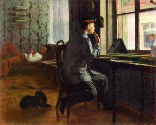 Preparing for the exams. 1864