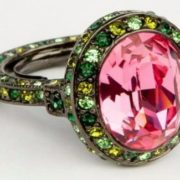 Ring with pink tourmaline