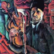 Self-portrait with a violin. 1919