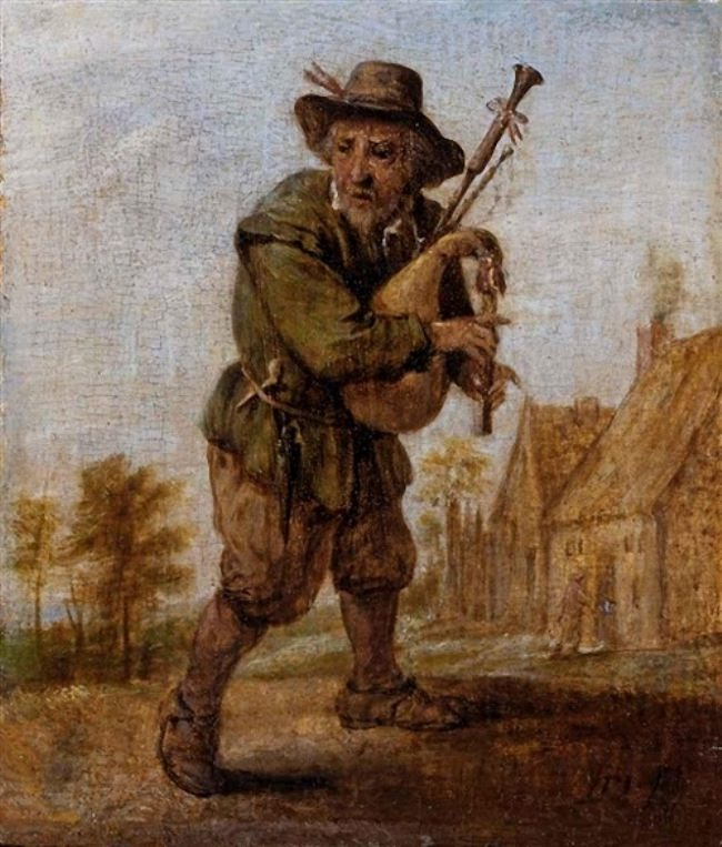 Studio of David Teniers the Younger. A Bagpipe Player.