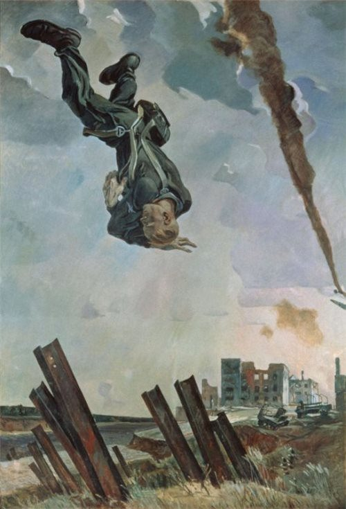 The downed ace, 1943. Russian Museum, St. Petersburg