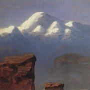 The top of Elbrus, illuminated by the sun. 1898-1908