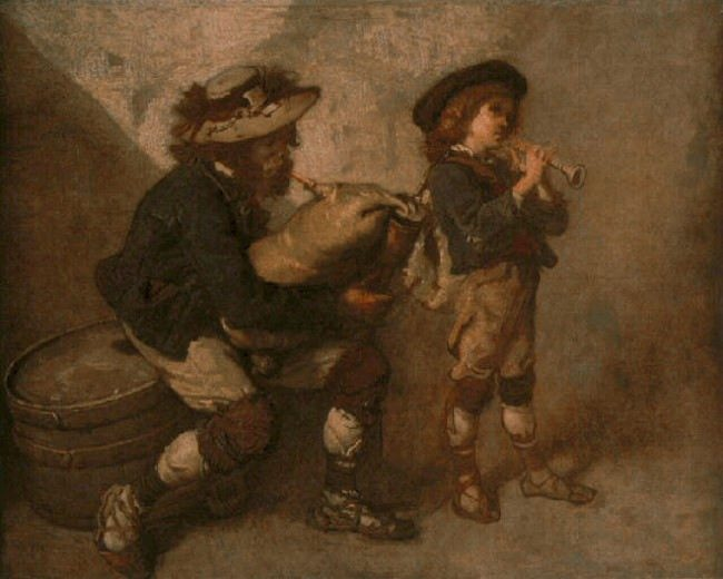 Thomas Couture. Piper and his son