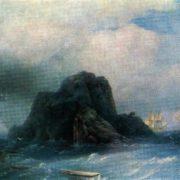 A rocky island. 1855