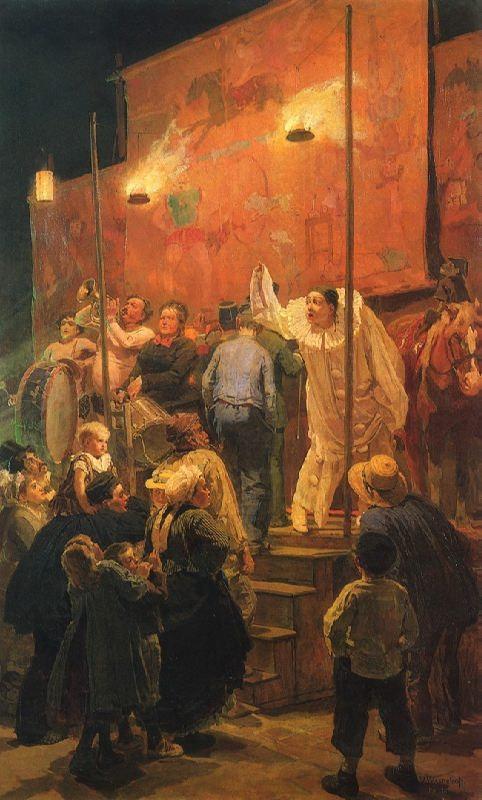 Acrobats. 1877