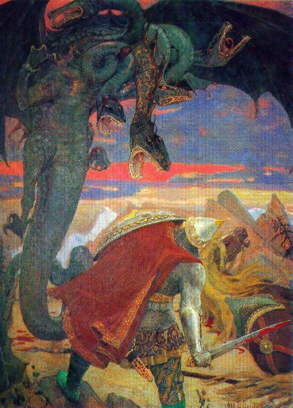 Fight of Dobrynya Nikitich with Zmei Gorynych